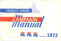 Image of 13117-10 - Brochure, Charles Thone Campaign Manual 1972