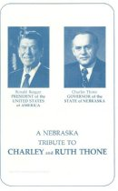 Image of 13117-2 - Program, A Nebraska Tribute to Charley and Ruth Thone, 1982