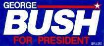 Image of 13120-104 - Sticker, Bumper, George H.W. Bush, George Bush for President