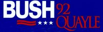 Image of 13120-105 - Sticker, Bumper, George H.W. Bush, Bush Quayle 92
