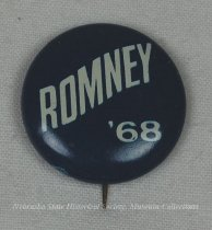 Image of 13120-151 - Button, Political, George Romney, Romney, '68
