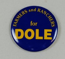 Image of 13120-51 - Button, Political, Farmers and Ranchers for Dole