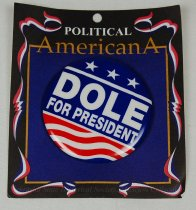Image of 13120-54 - Button, Political, Bob Dole, Dole for President