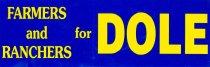 Image of 13120-62 - Sticker, Bumper, Bob Dole, Farmers and Ranchers for Dole