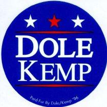 Image of 13120-63 - Sticker, Bob Dole, Dole/Kemp