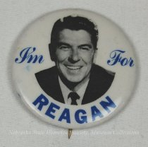 Image of 13120-67 - Button, Political, Ronald Reagan, I'm for Reagan with Photo