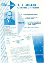 Image of Brochure-A.L. Miller for Congress