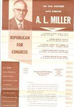 Image of Brochure-Re-elect A.L. Miller Interior
