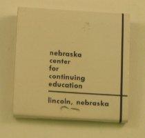 Image of 13137-114 - Matchbook, Nebraska Center for Continuing Education