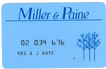 Image of 13143-171 - Card, Credit, Miller & Paine