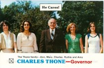 Image of 13143-48 - Postcard, Elect Charles Thone, Congress, Family Photo