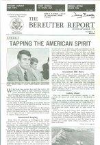 Image of 13143-53 - Brochure, The Bereuter Report, August/September 1979
