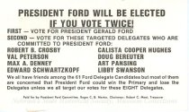 Image of 13143-77 - Card, Political, President Ford will be elected if you Vote for Targeted Delegates