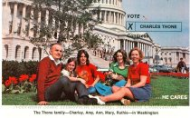 Image of 13143-79-(3) - Postcard, Charles Thone Family Outside Capitol