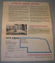 Image of 13143-81 - Brochure, Re-Elect Exon, U.S. Senate, 1984