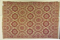 Image of 13144-18 - Coverlet, Red and White
