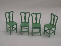 Image of 13154-15-(10-13) - Chair, Green, For Tootsie Toy Dollhouse