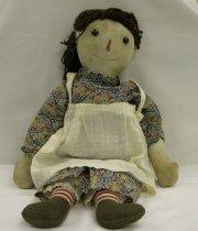Image of 13160-3 - Doll; Cloth; Girl; Raggedy Ann; P.F. Volland Co.