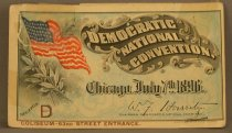 Image of 13165-1 - Ticket to the 1896 Democratic National Convention