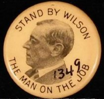 "Image of 1349 - Button, Wilson; ""Stand by Wilson"""