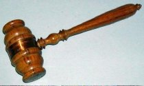 Image of 1531-4 - Gavel, Commemorative; From Beam of Plow Used to Break Ground for New Capitol, 1922