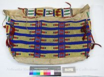 Image of 158 - Bag, Storage; Leather; Beaded;