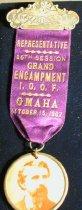 Image of 2239-10 - Badge W/Ribbon W/Medallion, Photo; I.O.O.F.; Reversible