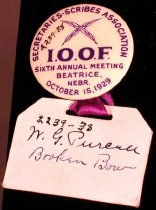 Image of 2239-38 - Button W/Ribbon & Nametag; IOOF