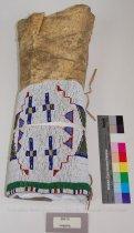 Image of 268-18 - Legging, Buckskin; Single; Beaded; Geometric