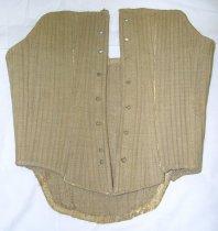 Image of 268-6 - Corset; Beige, Heavily Boned, Cotton