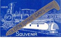 """Image of 2733-354 - Postcard; """"Golden Spike Days"""""""