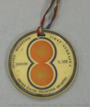 Image of 2733-439 - Medallion, Col. Stotzenburg; Photo 1 Side/ States Reception, Etc. on Back