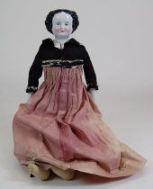 Image of 2918 - Doll; Porcelain & Cloth; Woman
