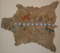 Image of 325 - Hide, Pictograph; W/ Beaded Band