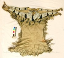 Image of 336 - Dress; Leather; Deer Tail; Beaded; Thimbles; Fringe