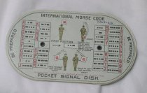 Image of 3368-215 - Card, Pocket Signal Disk; Boy Scout, Morse and Semaphore Codes