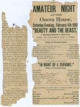 Image of 3560-2884 - Newspaper, Amateur Night at Opera House, Willa Cather in Beauty and the Beast