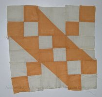 Image of 3560-539-(1) - Quilt Block, Pieced; Jacobs Ladder