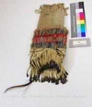 Image of 358 - Bag; Tobacco; Quills; Tin Cones; Wool; Medicine Man