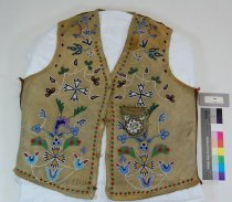 Image of 360 - Vest; Leather; Beaded; Floral
