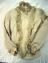 Image of 3681-(1) - Cream silk faille bodice worn by Miss Florence Lewis at her 1883 wedding to Charles J. Bills