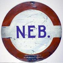 Image of 3801-1 - Sign, Nebraska Standard; Disk-Shaped, Nebraska Delegation, Chicago Convention 1986
