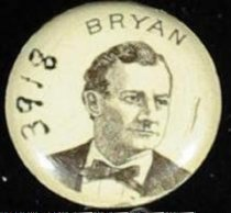 Image of 3918 - Button, Political; William Jennings Bryan