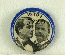 """Image of 3920 - Button, Political; William Jennings Bryan/Sewall; Jugate;  """"16-1"""""""