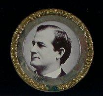 Image of 3924 - Button, Political; William Jennigns Bryan