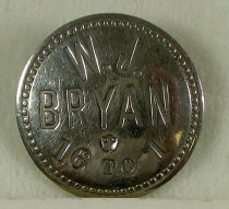 "Image of 3925 - Button; William Jennings Bryan; ""16-1"""