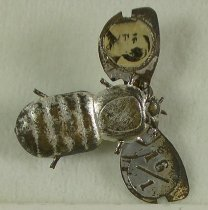 """Image of 3933 - Pin, Political; William Jennings Bryan; """"16 to 1""""; Silver Bug"""