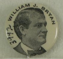 Image of 3992 - Button, Political; William Jennings Bryan
