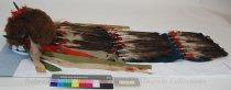 Image of 4003 - Headdress; Crow; Horned; Buffalo Cap; Eagle Feathers; Stroud Wool