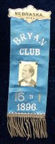 Image of 4008-2 - Badge; William Jennings Bryan;  Bryan Club